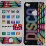 """Protection résine adhésive """"Disco"""" I-Phone 4 / 4S"""